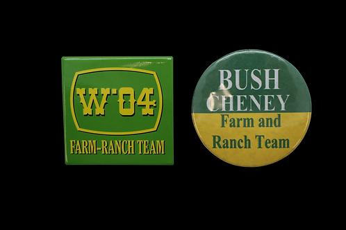 Two Vintage Bush / Cheney Campaign Pins