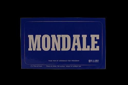 Mondale Campaign Postcard / Sticker