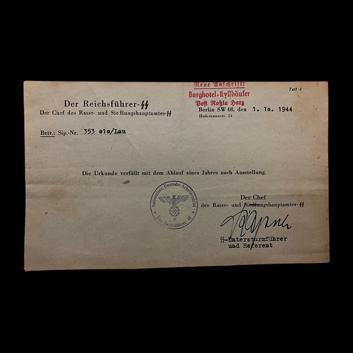 WW2 German Communications Note