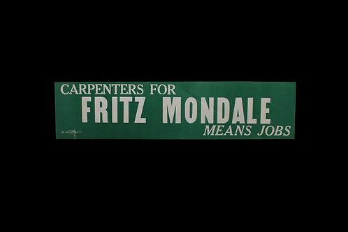 Mondale Campaign Sign