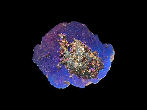 Titanium Aura Quartz Geode