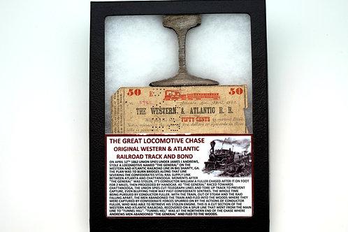 Confederate Railroad Track and Bond Certificate