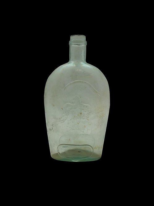 RARE CIVIL WAR GLASS BOTTLE / FLASK
