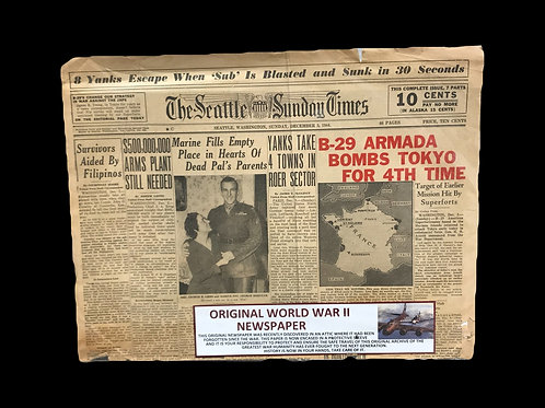 Original WW2 Newspaper