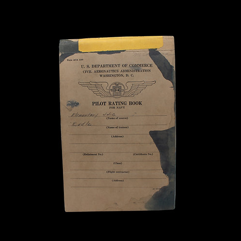 PILOT RATING BOOK FOR NAVY
