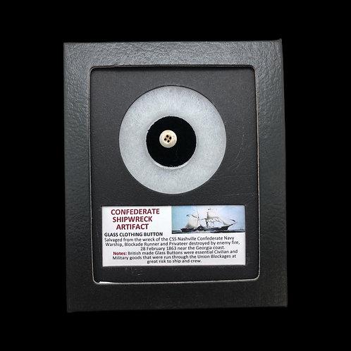 Confederate Shipwreck Artifact - Glass Clothing Button