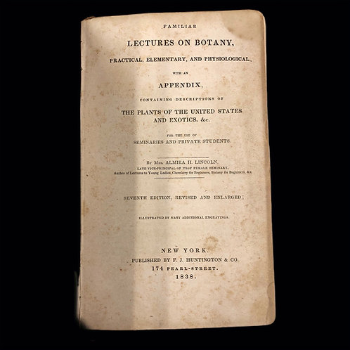 1838 Early American Botany Book