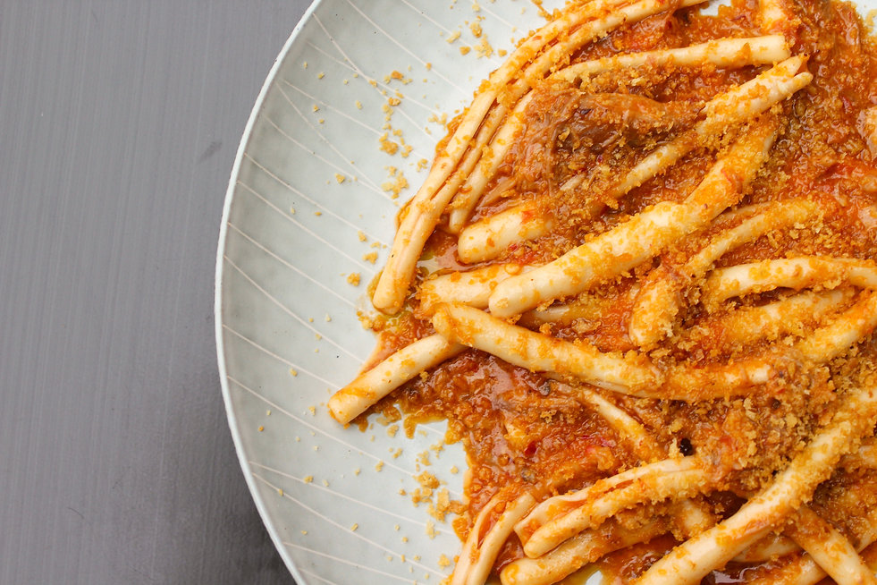 Pasta with Sauce on a Plate