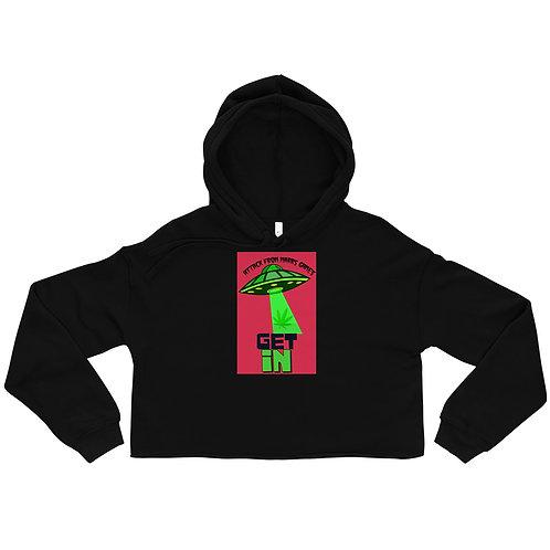 Get In Weed UFO Crop Hoodie
