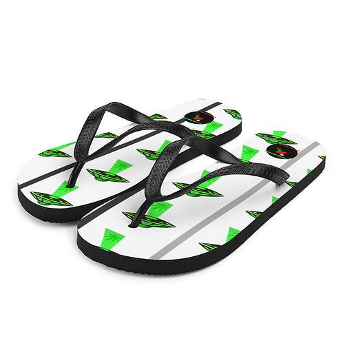 Weed UFO Flip-Flops