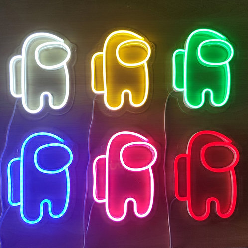LED SUS Neon Game Wall Lamp