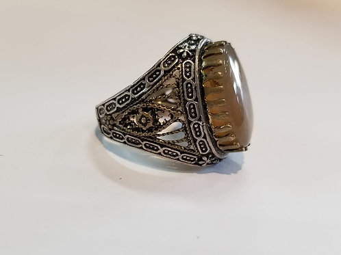 Yemeni Agate (Akeek) ring