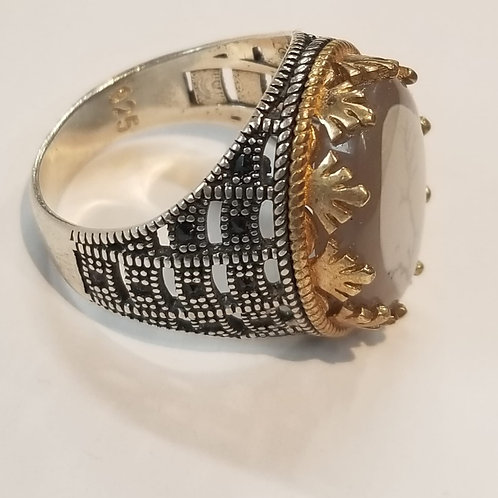 Yemeni Agate (Akeek) ring