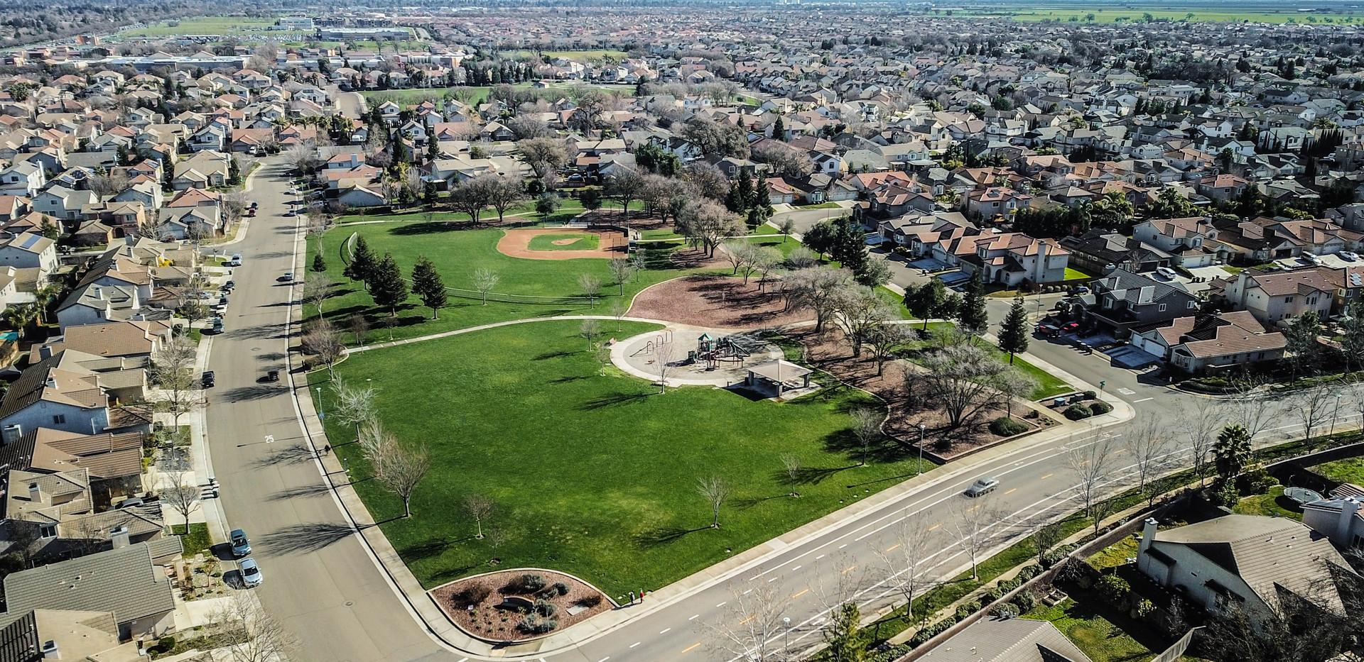 Aerial of Park in Elk Grove.
