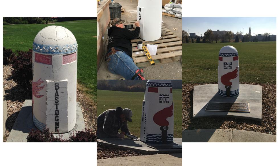 Veteran's Park Liberty Marker