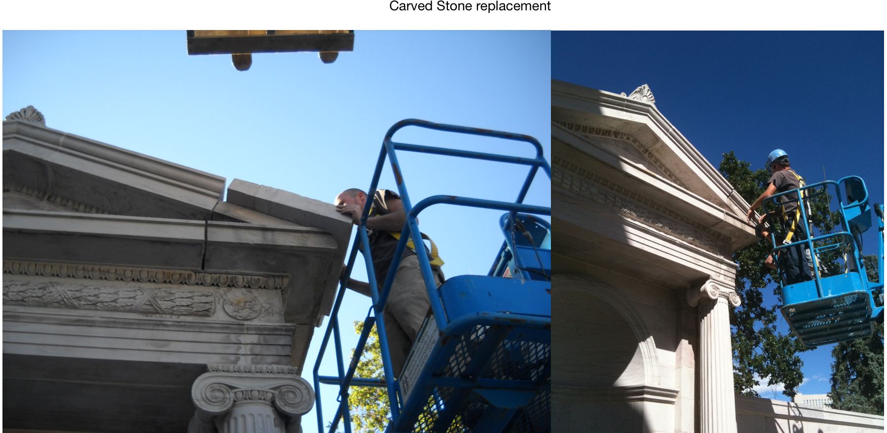 Greek Amphitheater stone replacement in Civic Center Park