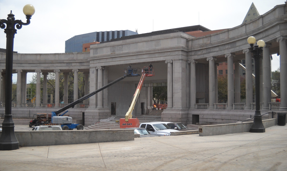 Greek Amphitheater in Civic Center Park progress