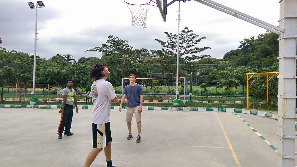 Game of basketball. The best Homestay in Bangalore