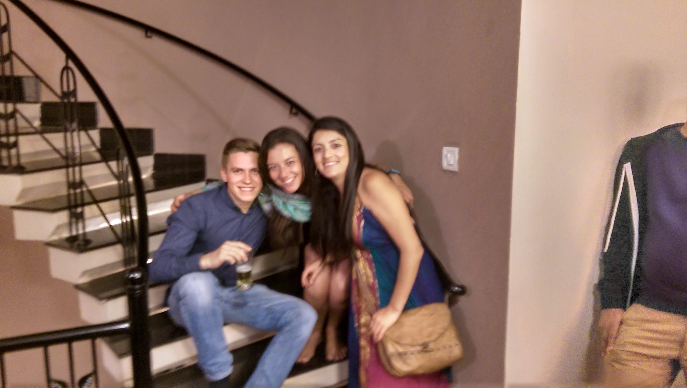 With friends at Mi Casa Su Casa