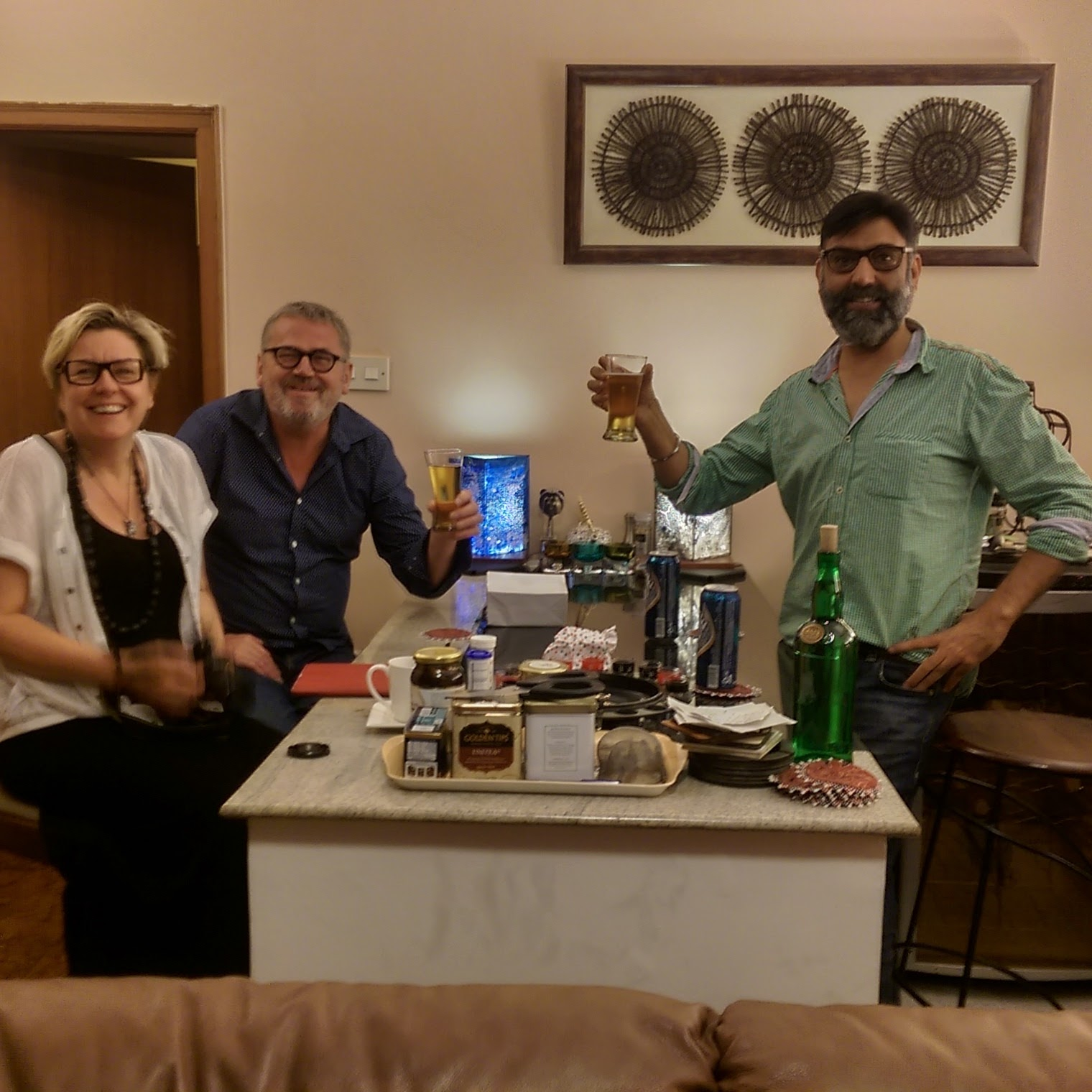 Happy guests at the Best Homestay