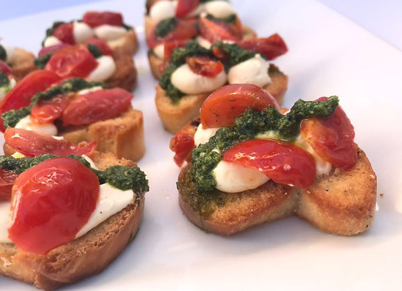 Crostini de Tomate Asado (12 unidades)