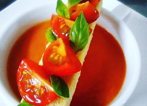 Crema de Tomate Albahaca (4 porciones)