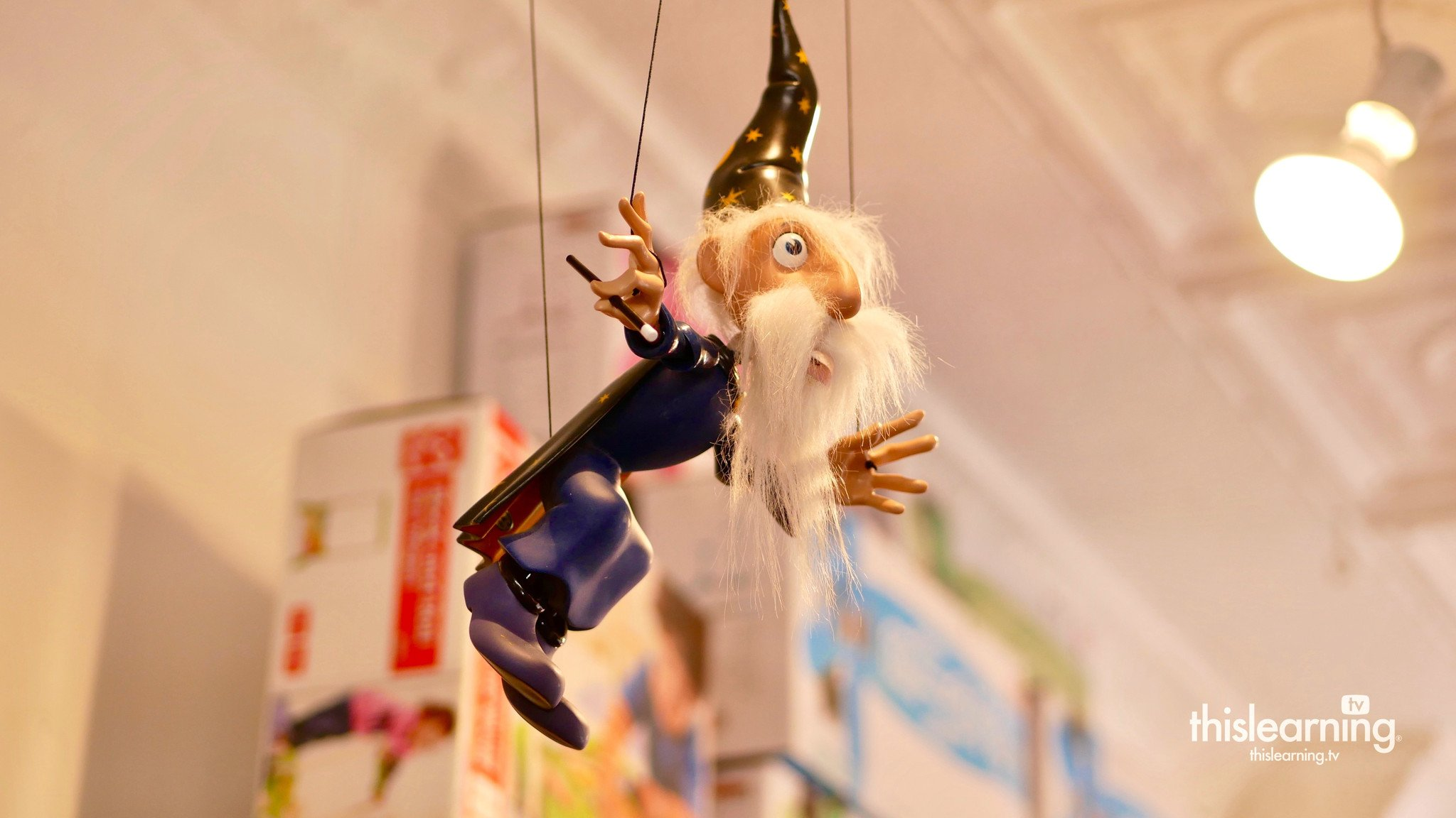 Darwin the Wizard Bozart Marionette