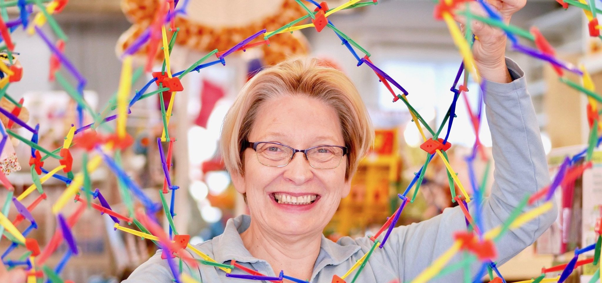 Carolyn and The Hoberman Sphere