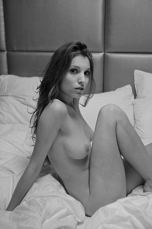 Nude in bed 1.