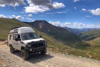 4x4 Van on Mountain