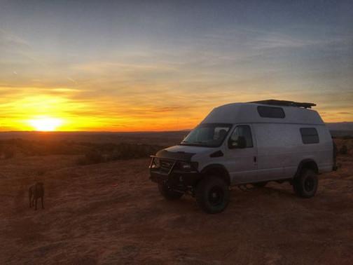 4x4 Van at Sunset