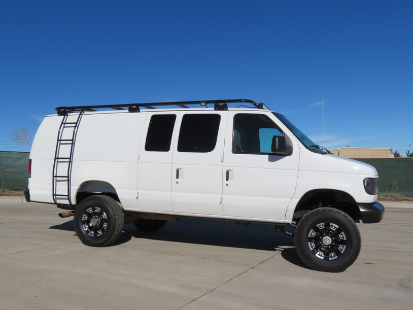 1999 Ford E-350 Extended 7.3 Diesel Cargo Timberline 4x4 Van