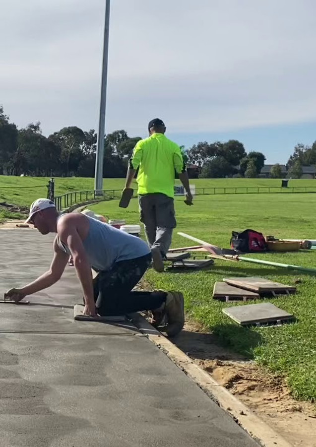 Concreting Dugouts for Players May 2020