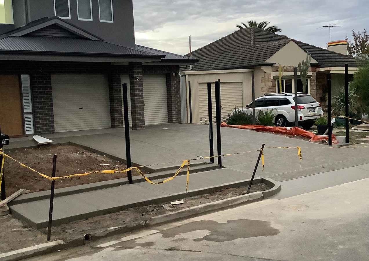 New Grey Concrete Driveway Brooklyn park, Adelaide