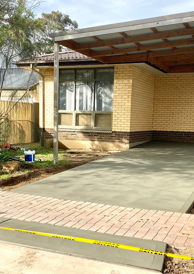 Small Concrete Driveway, Port Noarlunga, Adelaide
