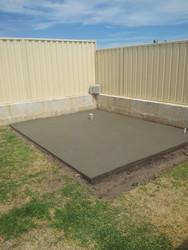 Concrete Garden Shed Base Adelaide