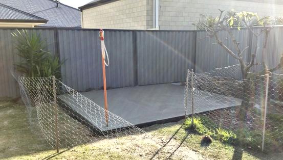 Grey Concrete Garden Shed Adelaide