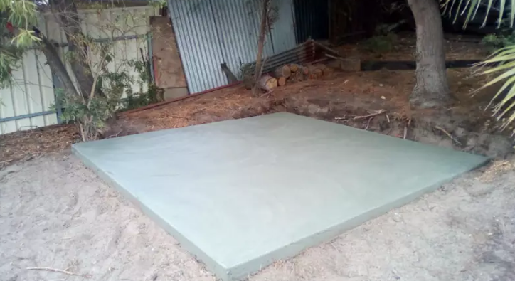 Shed Concrete Floor