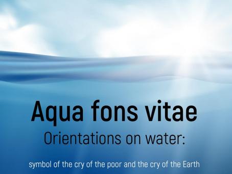 """Aqua fons vitae, """"Water is a source of life""""."""
