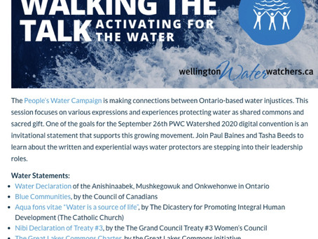 Walking the Talk: activating for the water