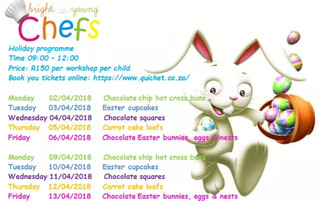 Don't miss out on our up coming Easter Holiday Workshops...