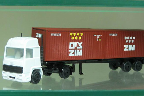 Truck with 2 -  20 foot  ZIM container,new logo