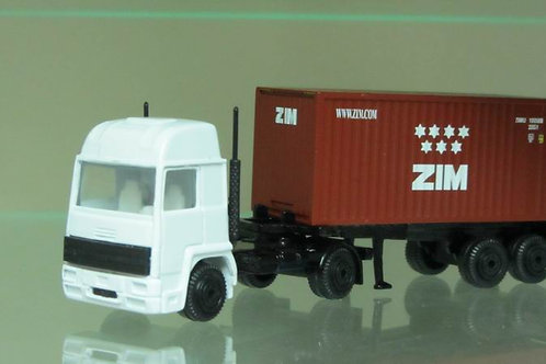 Truck with 20 foot  ZIM container,new logo