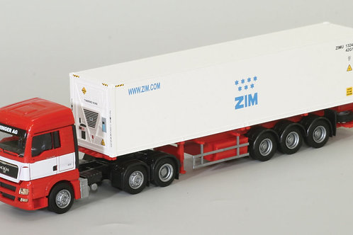 MAN truck with 40 foot  ZIM refrigerator container