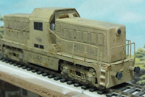 HBT Whitcomb diesel HO locomotive 71582,exact + weathered