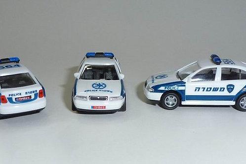 Israel Police car Skoda Octavia - Set of 2 cars. Limited edition
