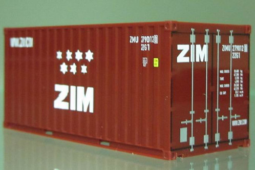 20ft ZIM container,limited edition.HO scale