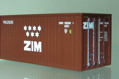 20 foot  ZIM container-new logo. Hand art