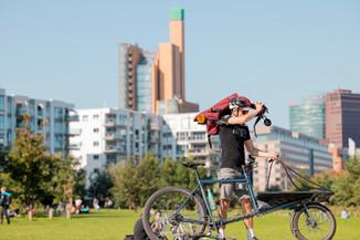 Max, Fahrradkurier in Berlin