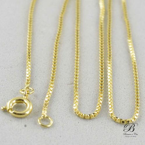 9ed1f38b085 ... Detalhe corrente feminina folheada ouro